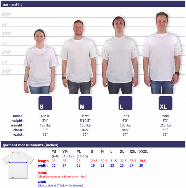 It also comes in a wide range of sizes & over 40 colors, with certain color shirts going up to 4XL. The cut is similar to Gildan, but runs a bit larger in the adult/plus sizes, and smaller in the youth sizes.